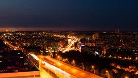 Άποψη νύχτας του Ufa Στοκ Εικόνες