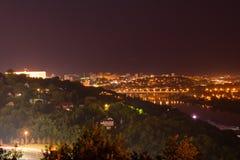 Άποψη νύχτας του Ufa Στοκ εικόνα με δικαίωμα ελεύθερης χρήσης