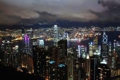 Άποψη νύχτας Χονγκ Κονγκ Στοκ φωτογραφία με δικαίωμα ελεύθερης χρήσης