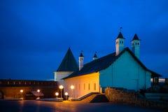 Άποψη νύχτας Kazan Κρεμλίνο, Ρωσία Στοκ εικόνες με δικαίωμα ελεύθερης χρήσης