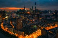 Άποψη νύχτας mingzhu Dongfang Στοκ Φωτογραφίες