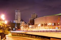 Άποψη νύχτας Plaza de Espana Στοκ εικόνες με δικαίωμα ελεύθερης χρήσης
