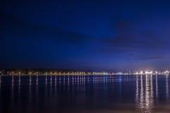 Άποψη νύχτας SmiltynÄ- Στοκ Φωτογραφία