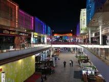Άποψη νύχτας Wanda Plaza σε DONGGUAN με τη ζώνη φωτισμού Στοκ εικόνα με δικαίωμα ελεύθερης χρήσης