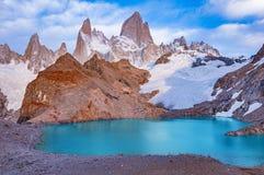 Άποψη ξημερωμάτων του βουνού της Fitz Roy Στοκ φωτογραφία με δικαίωμα ελεύθερης χρήσης