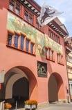 Άποψη οδών πόλεων του ιστορικού κέντρου Appenzell σε Appenzell, Ελβετία, Ευρώπη Στοκ φωτογραφία με δικαίωμα ελεύθερης χρήσης