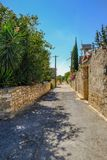 Άποψη οδών σε ένα typrical κυπριακό χωριό Στοκ φωτογραφίες με δικαίωμα ελεύθερης χρήσης