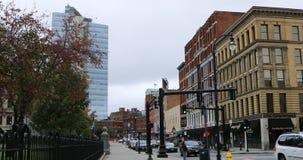 Άποψη οδών στο Worcester, Μασαχουσέτη 4K απόθεμα βίντεο