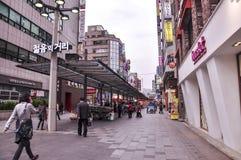 Άποψη οδών της Σεούλ Είναι η κύρια και μεγαλύτερη μητρόπολη της Νότιας Κορέας στοκ φωτογραφίες