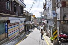 Άποψη οδών της Σεούλ Είναι η κύρια και μεγαλύτερη μητρόπολη της Νότιας Κορέας στοκ φωτογραφία