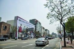 Άποψη οδών της Σεούλ Είναι η κύρια και μεγαλύτερη μητρόπολη της Νότιας Κορέας στοκ εικόνες με δικαίωμα ελεύθερης χρήσης
