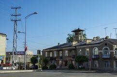 Άποψη οδών Stepanakert η πρωτεύουσα της περιοχής του Ναγκόρνο-Καραμπάχ Artsakh στοκ φωτογραφία με δικαίωμα ελεύθερης χρήσης