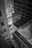 Άποψη οικοδόμησης της Νέας Υόρκης άνωθεν Στοκ Φωτογραφία