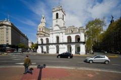 Άποψη οικοδόμησης Cabildo από την πλατεία Plaza de Mayo Στοκ Φωτογραφία