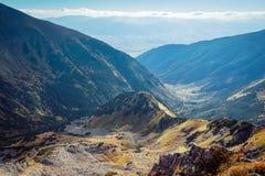 Άποψη οριζόντων από την αιχμή Placlive σε Tatras Στοκ Εικόνες