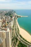 Άποψη οριζόντων και Gold Coast του Σικάγου Στοκ Εικόνες