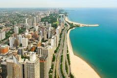 Άποψη οριζόντων και Gold Coast του Σικάγου Στοκ Φωτογραφίες