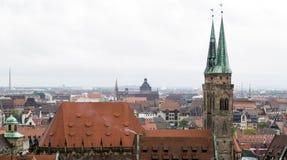 Άποψη οριζόντων της Νυρεμβέργης Στοκ φωτογραφία με δικαίωμα ελεύθερης χρήσης