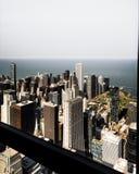 Άποψη οριζόντων του Σικάγου Στοκ Φωτογραφία