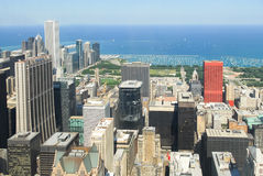 Άποψη οριζόντων του Σικάγου στοκ εικόνες