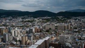 Άποψη ουρανού του στο κέντρο της πόλης Τόκιο που λαμβάνεται από τον πύργο άποψης ουρανού Η μητρόπολη του Τόκιο επεκτείνεται στον  στοκ εικόνα με δικαίωμα ελεύθερης χρήσης