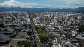 Άποψη ουρανού του στο κέντρο της πόλης Τόκιο που λαμβάνεται από τον πύργο άποψης ουρανού Η μητρόπολη του Τόκιο επεκτείνεται στον  στοκ φωτογραφία με δικαίωμα ελεύθερης χρήσης