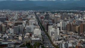 Άποψη ουρανού του στο κέντρο της πόλης Τόκιο που λαμβάνεται από τον πύργο άποψης ουρανού Η μητρόπολη του Τόκιο επεκτείνεται στον  στοκ εικόνες με δικαίωμα ελεύθερης χρήσης