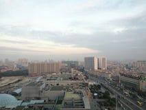 Άποψη οδών για την πόλη Dongguan στην κοινή ημέρα πρωινού Στοκ εικόνες με δικαίωμα ελεύθερης χρήσης