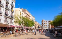 Άποψη οδών με τους τουρίστες, Tarragona Στοκ φωτογραφίες με δικαίωμα ελεύθερης χρήσης