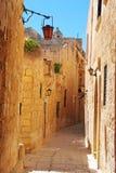Άποψη οδών σε Mdina, Μάλτα στοκ εικόνες
