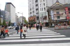 Άποψη οδών της Ιαπωνίας Τόκιο Στοκ φωτογραφία με δικαίωμα ελεύθερης χρήσης