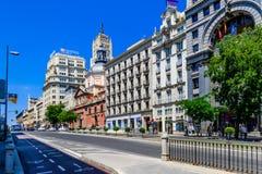 Άποψη οδών της Μαδρίτης, Ισπανία Στοκ Εικόνες