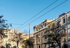 Άποψη οδών της παλαιάς κωμόπολης στην πόλη της Νάπολης Στοκ εικόνα με δικαίωμα ελεύθερης χρήσης