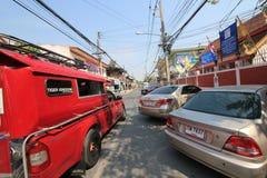Άποψη οδών της Ταϊλάνδης Chiang Mai Στοκ εικόνα με δικαίωμα ελεύθερης χρήσης