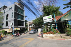 Άποψη οδών της Ταϊλάνδης Chiang Mai Στοκ Φωτογραφία
