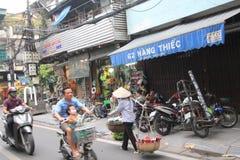 Άποψη οδών του Βιετνάμ Ανόι Στοκ Εικόνα