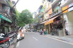 Άποψη οδών του Βιετνάμ Ανόι Στοκ Φωτογραφία