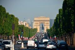 Άποψη οδών του Παρισιού Στοκ φωτογραφίες με δικαίωμα ελεύθερης χρήσης