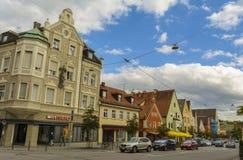 Άποψη οδών Furstenfeldbruck, Βαυαρία, Γερμανία Στοκ Φωτογραφία