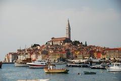 Άποψη οδών Rovinij Στοκ εικόνα με δικαίωμα ελεύθερης χρήσης