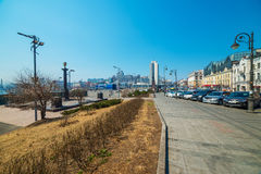 Άποψη οδών Svetlanskaya Στοκ φωτογραφία με δικαίωμα ελεύθερης χρήσης