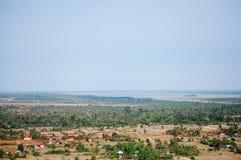 Άποψη πάνω από την πόλη Siemreap στην Καμπότζη στο πρωί Στοκ Εικόνες