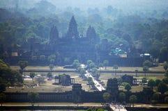 Άποψη πάνω από Angkor Wat στο πρωί στην πόλη Siemreap στην Καμπότζη στο πρωί Στοκ φωτογραφία με δικαίωμα ελεύθερης χρήσης