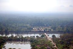 Άποψη πάνω από Angkor Wat στο πρωί στην πόλη Siemreap στην Καμπότζη στο πρωί Στοκ εικόνα με δικαίωμα ελεύθερης χρήσης