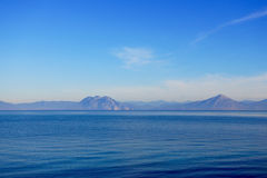 Άποψη πέρα από την ιόνια θάλασσα σε Πάτρα, Ελλάδα Στοκ εικόνες με δικαίωμα ελεύθερης χρήσης