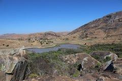 Άποψη πέρα από την κοινοτική επιφύλαξη της Anja, Μαδαγασκάρη Στοκ εικόνες με δικαίωμα ελεύθερης χρήσης