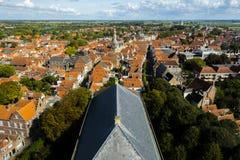 Άποψη πέρα από την ολλανδική πόλη Zierikzee στοκ εικόνες με δικαίωμα ελεύθερης χρήσης
