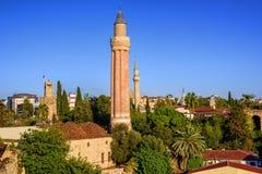 Άποψη πέρα από την παλαιά πόλη Antalya, Kaleici, Τουρκία Στοκ Εικόνες