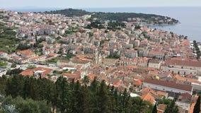 Άποψη πέρα από την πόλη Hvar Κροατία από το φρούριο Spanjola Στοκ Εικόνα