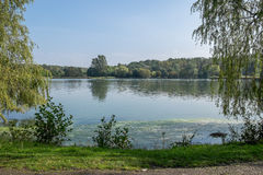 Άποψη πέρα από τη λίμνη Στοκ φωτογραφίες με δικαίωμα ελεύθερης χρήσης